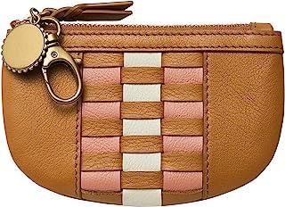 Fossil 女式 Polly 皮革拉链钱包,带夹子