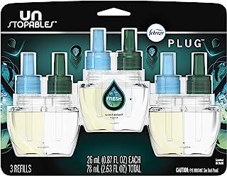 Febreze 插入式空气清新剂,清新无味,香薰补充装,3 支装