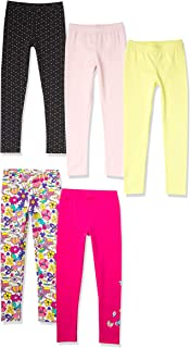 Amazon Brand - 斑马女孩幼童和儿童打底裤 4 条装