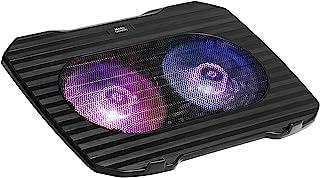 Mars Gaming MNBC0,15.6英寸(约38.1厘米)笔记本电脑冷却支架,2个RGB风扇,USB,黑色