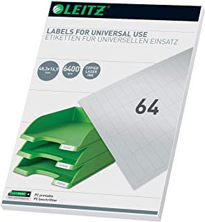 Leitz 61810001 PC Writeable Universal Labels 48 x 16.9 mm 白色