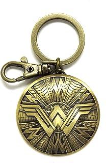 DC 新款神奇女侠盾牌青灰色钥匙圈