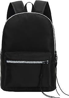 IN.RHAN 双肩背包,中性款,系绳字母拉链,经典防水旅行学校背包休闲背包