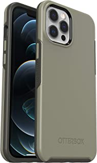 OtterBox Symmetry - 优雅超薄防摔保护套,适用于Apple iPhone 12 Pro Max,灰色