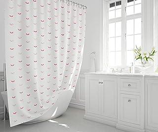 Bonamaison 数码印花浴帘,浴缸窗帘,包括浴帘环,尺寸:140x200 cm - 在土耳其设计和制造