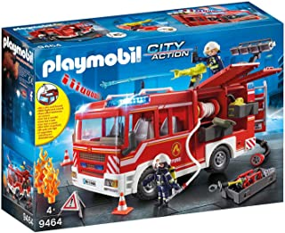 PLAYMOBIL 摩比世界 都市行动 消防车拼插玩具 9464 带光效和音效,适合5岁以上儿童