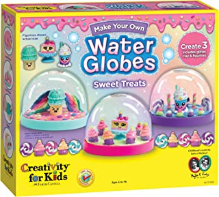 Creativity for Kids Make Your Own Water Globes Sweet Treats – 创造 3 个 DIY 甜点主题雪球球