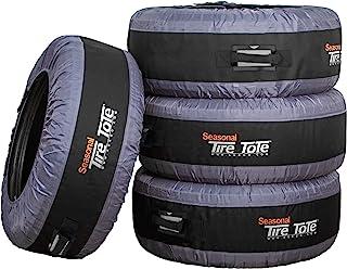 Kurgo 季节性轮胎手提包 | 备用轮胎盖 | 便携式车轮袋 | 冬季轮胎盖 | 环保轮胎手提包 | 手柄方便运输 | 通用贴合