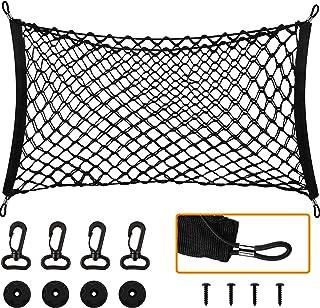 汽车后货物网可伸缩挂钩汽车弹性网载箱收纳网适用于 SUV 卡车(43 x 16 英寸)