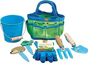 Tierra Garden 7-LP380 Little Pals 儿童少年花园套件,带手把、手叉、手套、植物标记和桶,粉色 7-LP381