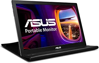 "ASUS 华硕 MB168B WXGA 1366x768 USB便携式显示器,黑色/银色,15.6""(约39.62厘米)"