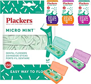 Plackers Micro Mint 牙线棒,150 支(186 支)