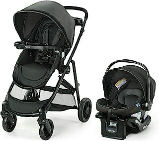 Graco 葛莱 Modes Element 旅行系统,包括带可翻转座椅的婴儿车,额外存储空间,儿童托盘和 SnugRide 35 Lite LX 婴儿汽车座椅,Canter