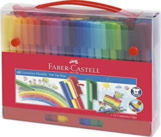 Faber-Castell 辉柏嘉 连接器纤维笔盒(60 件装)