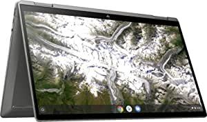 2020 *新 HP x360 2 合 1 14 英寸 FHD 触摸屏Chromebook - * 10 代 Intel Core i3-10110U, 8GB RAM, 64GB eMMC, B&O 音频, WiFi 6, 背光键盘, 指纹阅读器 - Mineral Silver
