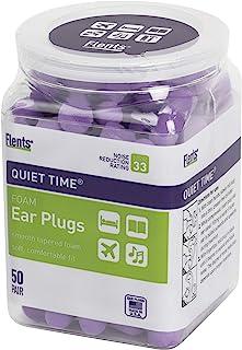 Flents 耳塞,50对,用于睡觉,打呼,吵闹,旅行,音乐会,建筑和学习的耳塞,NRR 33