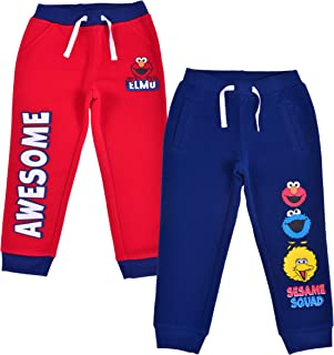Sesame Street 男孩 2 件套抽绳运动慢跑裤套装
