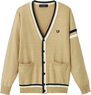 Cu-pop 线条V领针织开衫(学校·制服) TB-1876 女孩