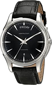 Hamilton 男士 HML-H32505731 Jazzmaster 模拟显示瑞士自动黑色手表