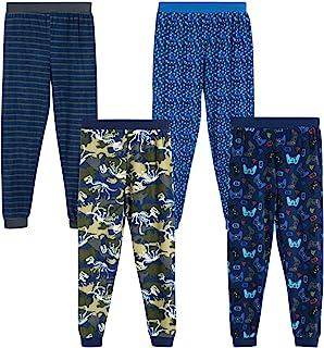 Quad Seven 男童睡裤 - 超细羊毛睡衣慢跑运动裤 (4 件装)