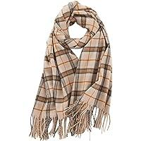 Lallier 女式纯羊绒围巾,柔软羊绒披肩披肩,超大 78 英寸 × 26 英寸(约 198.1 厘米 × 66.0…