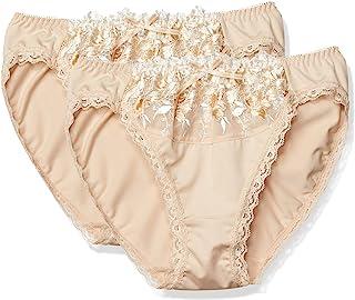 Atsugi 内裤 e-select 搭配内裤 ( 2 件装 ) 薄纱蕾丝 超细弹力印度棉 腋下软钢圈 女士 84436AS