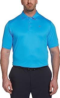 Callaway 男式短袖纯色挥杆技术 Polo 衫