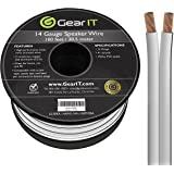 GearIT 14-Gauge Speaker Wire (100 Feet/30.48 Meters) White…