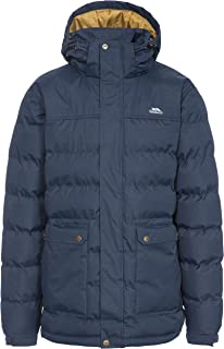 Trespass 男士保暖衬垫防水冬季夹克,带铆钉帽