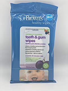 Dr. Browns Tooth and Gum Wipes, 棕色 60份