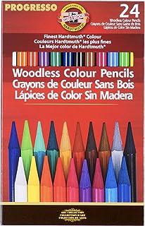 "Koh-I-Noor Progresso 无木质石墨铅笔套装,6 度,每度 2 支铅笔,12 支铅笔 (FA8911.12) 彩色铅笔 24 Pencils ""Multi"""