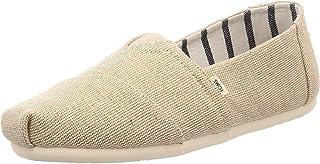 TOMS 女式经典帆布一脚蹬鞋 未漂白传统帆布 10.5
