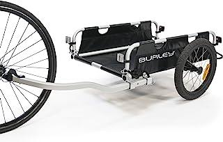 Burley 平板拖车,铝制实用货物自行车拖车,黑色