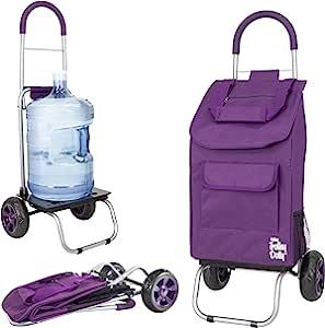 dbest products 手推车娃娃,可折叠紫色购物杂货推车