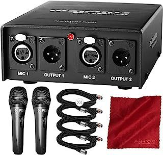 Marantz 专业幻影包 2 通道 48V 幻影电源,适用于带 Xpix 冷凝器麦克风的电容麦克风、电缆和豪华配件包
