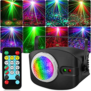 DJ 激光灯,OPPSK RGB 激光 DJ 迪斯科灯,遥控和声音激活,48 种照明效果,适用于婚礼生日舞蹈派对舞台照明