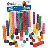 Learning Resources Mathlink 多维数据集,教育计数玩具,培养早期数学技能,一组100个多维数据…