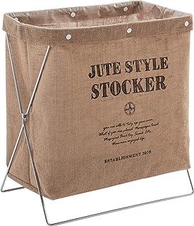 ASTRO 收纳箱 自然 带钢丝尺 麻 杂志架 洗衣篮 咖啡店风格 防水加工 620-48