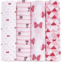 aden + anais aden muslin棉襁褓包巾4条装- 米妮老鼠(112 x 112cm)