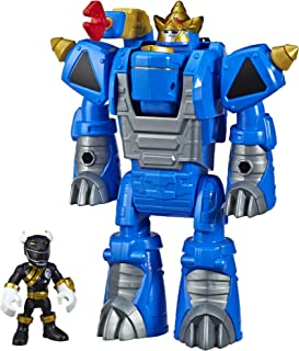 Playskool Heroes Power Rangers Morphin Zords Black Ranger and Rhino Zord 3-Inch Action Figures, Collectible Toys for Kids ...