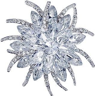 Flyonce 女式奥地利水晶婚礼派对花蕾胸针女式女孩