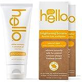 Hello Oral Care 白色姜黄+椰子油增亮剂无氟牙膏,4.0 盎司,2 支装