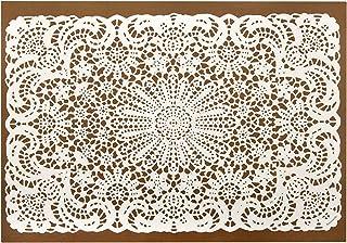 纸质餐垫 桌垫 桌垫 适合她的一次性白色蕾丝设计 Pk 25