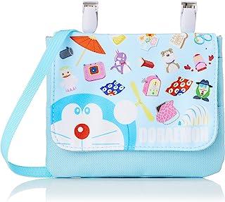 [哆啦艾蒙] 小挎包 哆啦A梦 带夹袋 肩带 儿童 萨克斯蓝 (041)