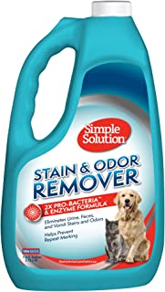 Simple Solution 宠物污渍和异味去除剂   2 倍 Pro-Bacteria 清洁能力   1 加仑(约 3.7 升)