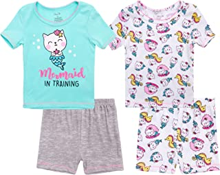 Rene Rofe 女婴睡衣套装 - 4 件套超柔软短裤和 T 恤套装