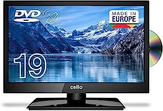 Cello C1920FSDE 19英寸(47厘米对角线)HD Ready LED 电视,内置DVD播放器和DVBT2 S2三重调谐器