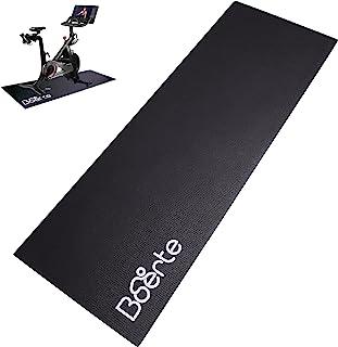 Boerte 高*厚运动器材垫,适用于Peloton、跑步机、固定自行车、划船机、椭圆形、健身设备、家庭健身房地板保护,24 x 72 英寸(约 60.9 x 182.9 厘米),黑色