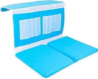 婴儿浴室护膝垫 - 防滑,工业层泡沫垫,带 4 XL 存储口袋