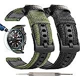 Maxjoy Galaxy Watch 3 45 毫米尼龙表带,2 件装